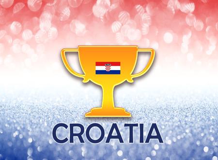bandera croacia: Bandera de Croacia para el fútbol Foto de archivo