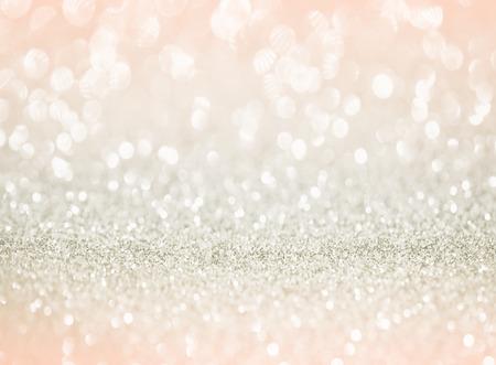 rose gold glitter bokeh texture background