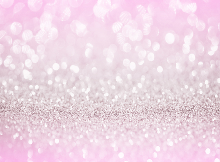 silver pink glitter bokeh texture background