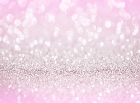 silver pink glitter bokeh texture background Stock Photo - 59462636