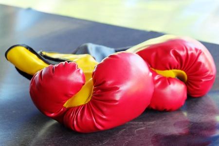padding: red glove, red padding