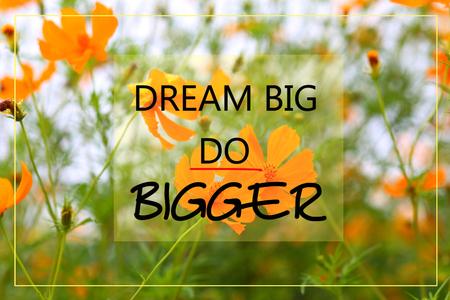bigger: Dream big do bigger on orange flower