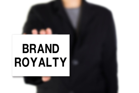 royalty: Modern business background concept with word: BRAND ROYALTY Stock Photo