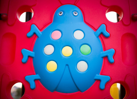 child's: blue lady bug, childs toy. Stock Photo