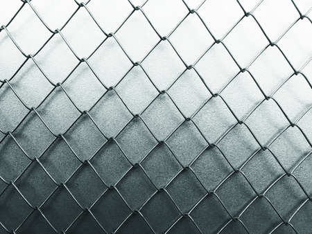 metal grate: a aluminium wire isolated background, for house construction. Stock Photo