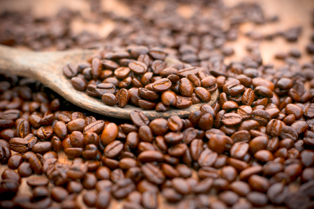 cupped: roasted coffee beans, can be used as a background.