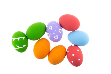 Colorful Easter eggs background.