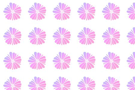 Pink pastel flowers pattern on white background.