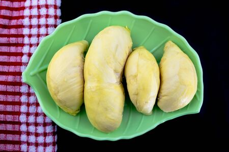 Fresh durian tropical fruit summer for sweet dessert or snack in Thailand.