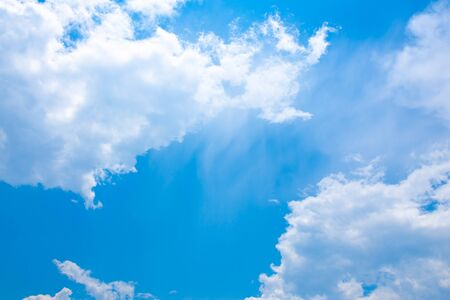 Clear blue sky with clouds 版權商用圖片