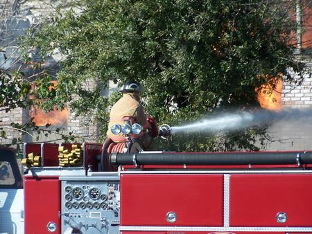 Structure fire, exterior attack