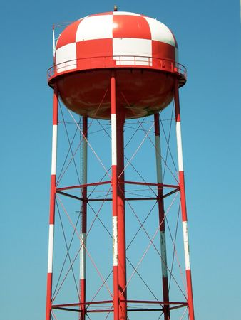 High visibility water tower near airport