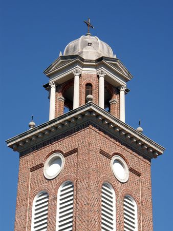 Bell tower and cupola of a church
