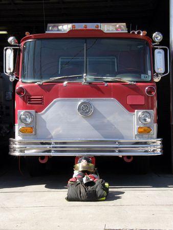 Memorial for a fallen firefighter Stock Photo - 3655629