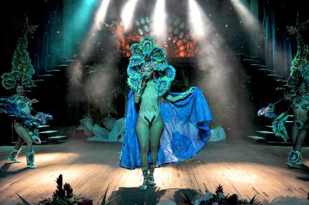tropicana: HAVANA, CUBA, MAY 7, 2009  Astonishing dancer performing in Tropicana in Havana, Cuba, on May 7, 2009  Editorial