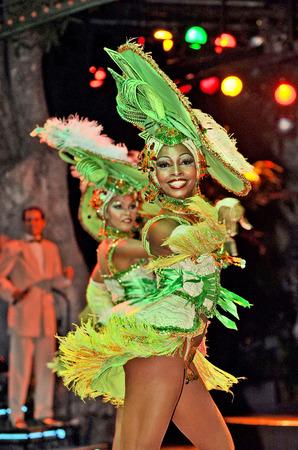 tropicana: HAVANA, CUBA, MAY 7, 2009  Astonishing dancers performing in Tropicana in Havana, Cuba, on May 7, 2009  Editorial