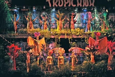 dozens: HAVANA, CUBA, MAY 7, 2009  Dozens of astonishing dancers performing in Tropicana in Havana, Cuba, on May 7, 2009