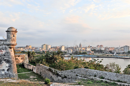 HAVANA, CUBA, MAY 11, 2009  Fort of Saint Charles during sunset in Havana, Cuba, on May 11th, 2009