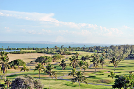Golf course of Mansion Xanadu in Varadero,  Cuba, May 13th, 2009  The estate belonged to the Dupont brothers before the  Cuban communist revolution  photo
