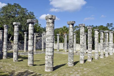Chichen Itza, Yucatan, Mexico, 2007  Several statues  photo