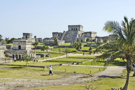 Tulum, Yucatan, Mexico, 2007  Archeological ruins, built by the Mayas photo