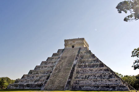 Chichen Itza, Yucatan, Mexico, 2007  Stairs of ancient buildings built by the Mayas  photo