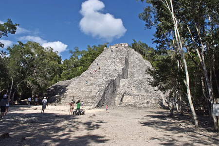 Coba, Yucatan, Mexico, 2007  The main ziggurat  photo