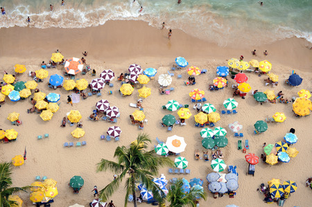 Recife, Pernambuco, Brazil, 2009, olinda, city, clouds, misty day, fog, mist, a view, daytime, day, clouds in the sky, big town, beach, umbrella, sunshade, sea, holiday, waves, foamy wave crests, lots of people, brazilian people, beach full fo brazilians,