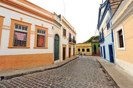 OLINDA, RECIFE, BRAZIL, SEPTEMBER 1, 2009   Beautiful colourful houses in Olinda