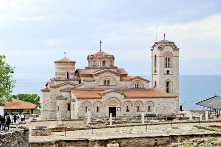 OHRID, MACEDONIA, MAY 18, 2011  The newly built St  Clement�s Church in Ohrid, Macedonia, on May 18th, 2011
