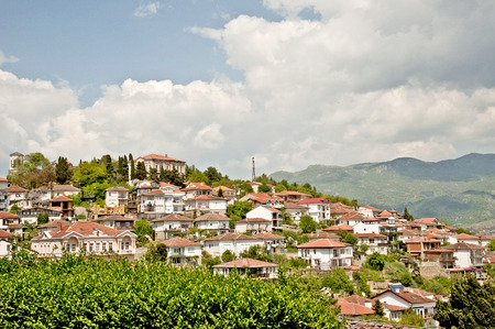 A view of the town of Ohrid from above, in Ohrid, Macedonia