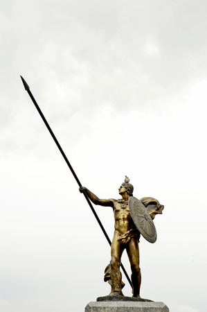 mountin: The statue of Alexander the Great in Prilep, Macedonia
