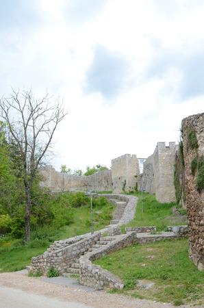 tsar: A part of the wall of the fortress of Tsar Samuil, in Ohrid, Macedonia Stock Photo