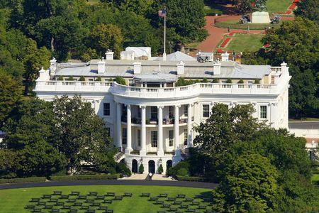 george washington: White House in Washington Stock Photo