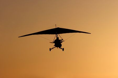 glider and sunset photo