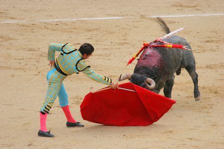 las ventas: photo taken during corrida in madrid las ventas