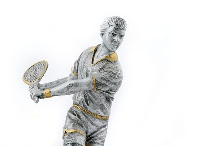 embody: silver with gold parts tennis champion trophy