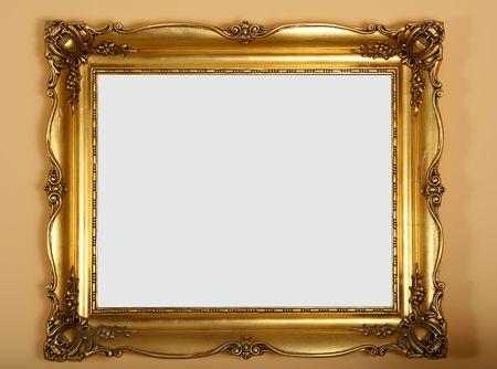 ornamentations: antico oro vecchio telaio sulla parete