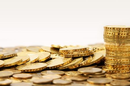 nice money background made out of gold coins Stock Photo - 2693954