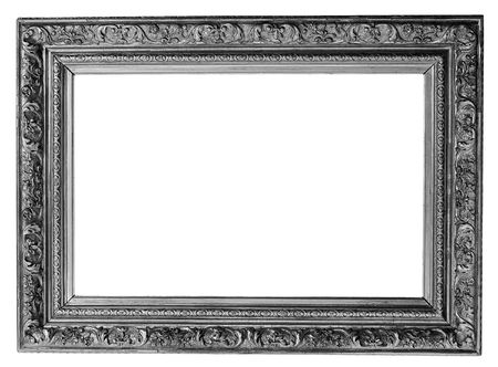 old antique silver frame over white with clipping path Stock Photo - 3279419