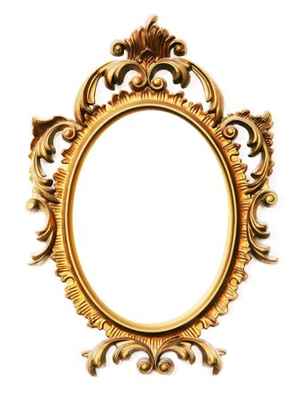 old antique gold frame over white background Stock Photo - 3279421