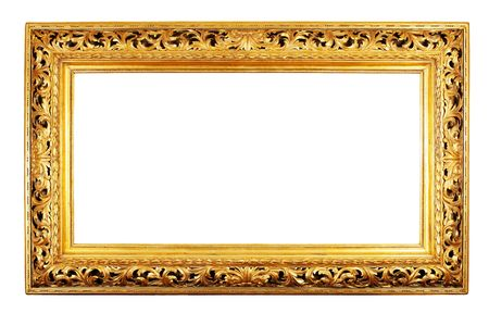 old antique gold frame over white background Stock Photo - 3700299