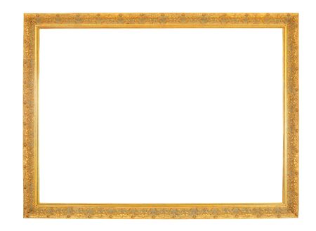 an old gold frame isolated on white background Stock Photo - 3881688