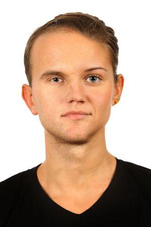 the portrait of half woman half man face Stock Photo - 6786235