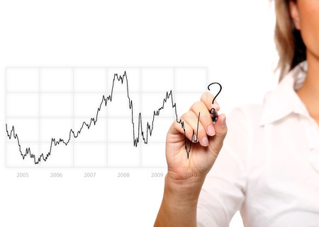 A chart of authentic euro to dollar rate in years 2005-2010 Stock Photo - 8083003