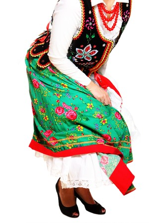 A close-up of a Polish traditional dancer over white background Stock Photo - 12198013