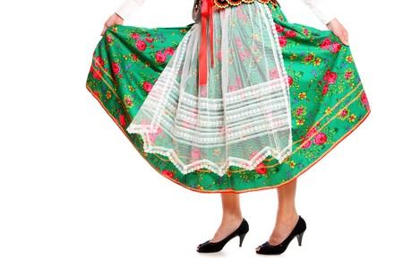 A close-up of a traditional Polish outfit over white background Stock Photo - 8165742