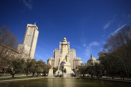 don quixote: A picture of Don Quixote monument in Madrid
