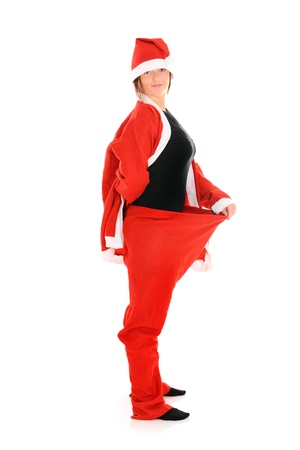 baggy: A picture of a Santa in baggy trousers over white background