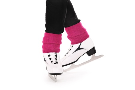 figure skater: A picture of figure skates over white background